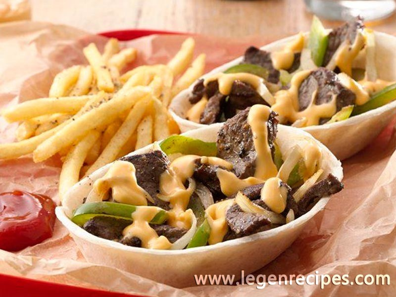 Philly Cheese Steak Taco Boats™