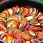 Ratatouille with zucchini and eggplant
