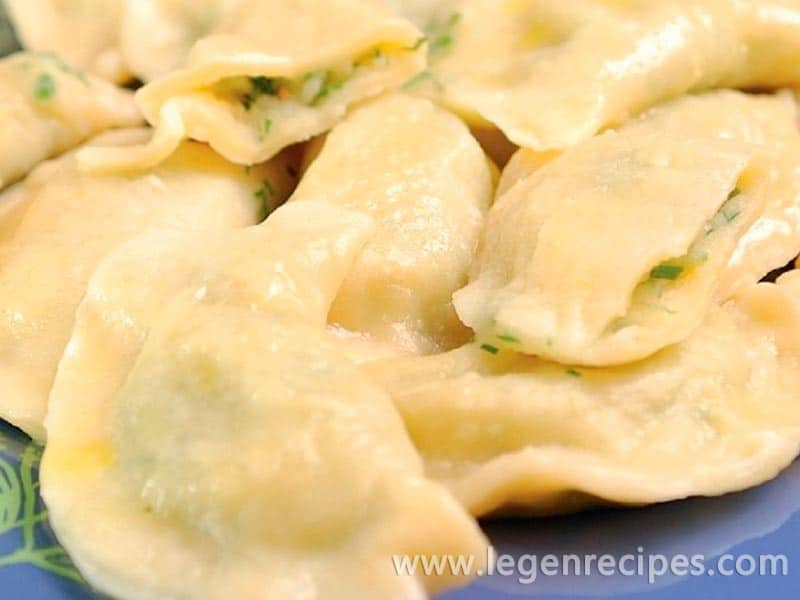 Recipe dumplings with potatoes and dill