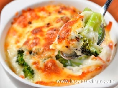 Recipe gratin with broccoli
