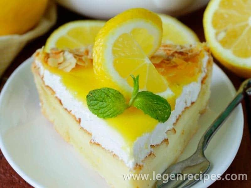 Recipe of lemon cheesecake