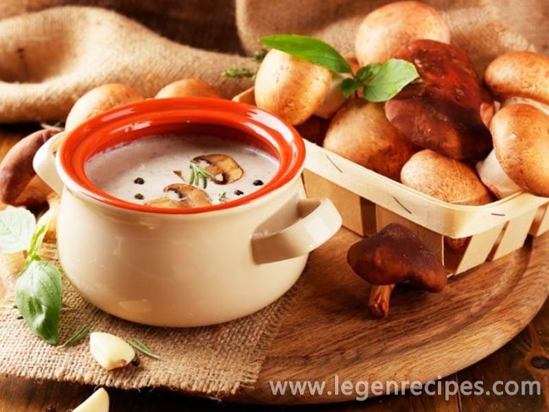 Recipe of mushroom soup