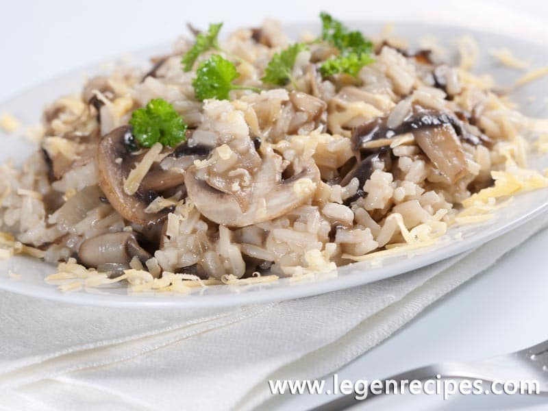 how to make mushroom risotto without wine