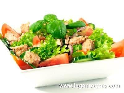 Salad of cod liver