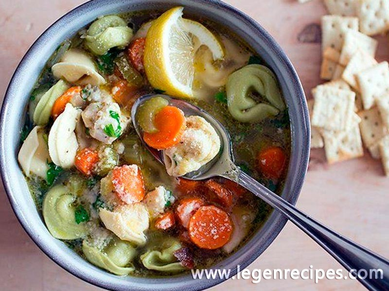 Slow-Cooker Chicken Cheese Tortellini Soup