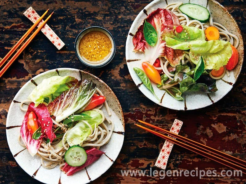 Soba Salad with Lemon–Miso Vinaigrette