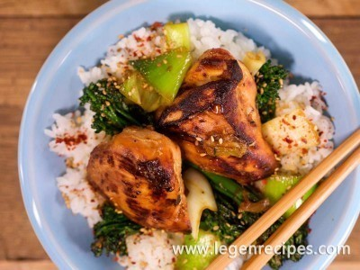 Teriyaki with Broccolini and Leeks