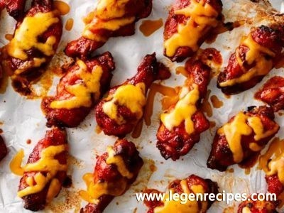 3-Ingredient Cheesy BBQ Chicken Wings