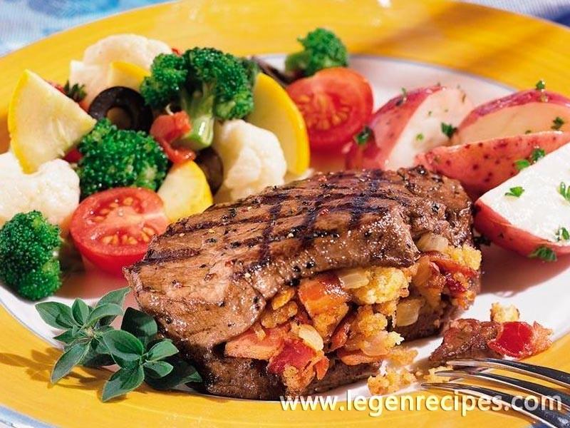 Bacon-Stuffed Tenderloin Steaks