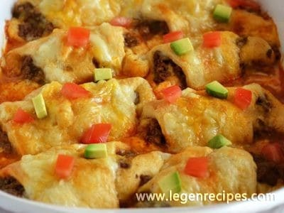 Beef Enchilada Crescents