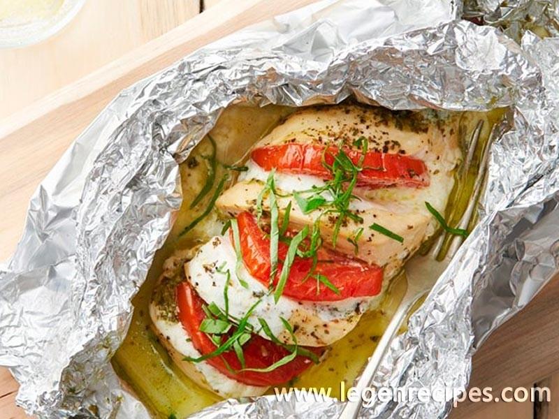 Caprese Chicken Foil Pack