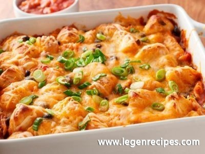 Chicken Enchilada Bubble-Up Bake
