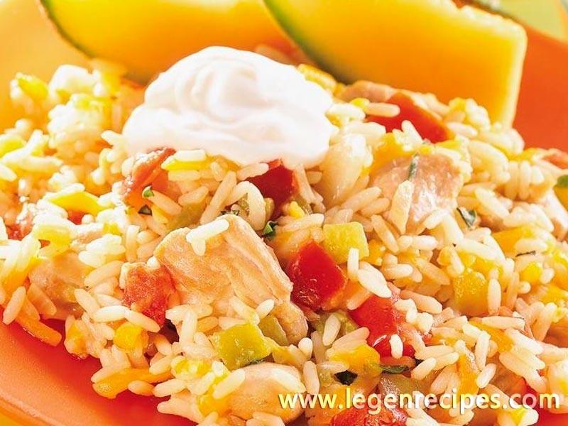 Chicken and Rice Skillet Dinner