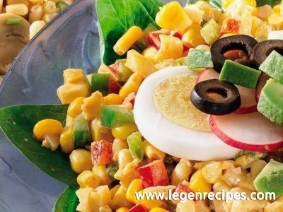 Chili-Lime Corn and Spinach Salad