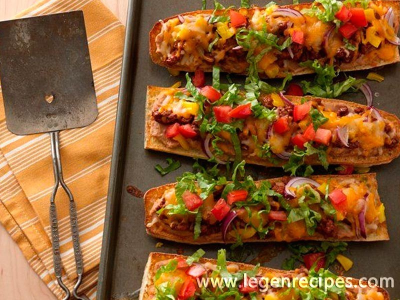 French Bread Taco Pizza