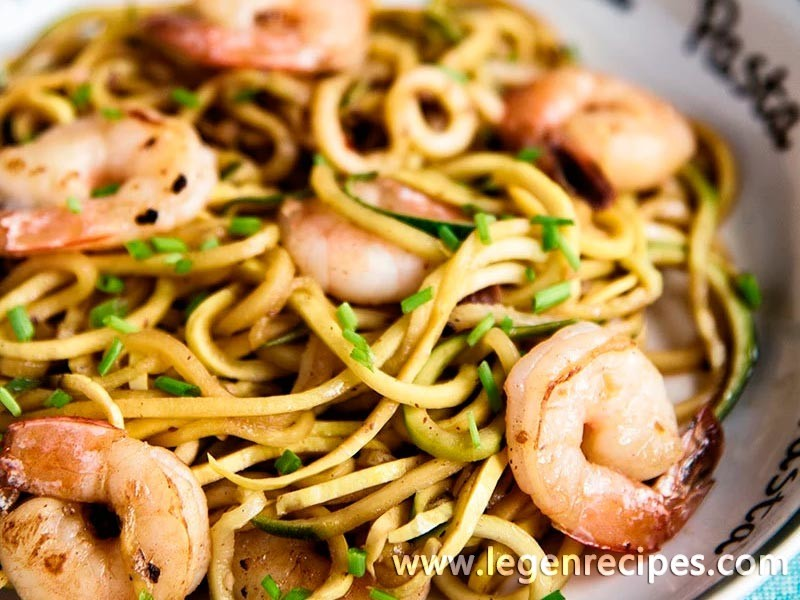 Garlic Shrimp With Zucchini Noodles Recipe
