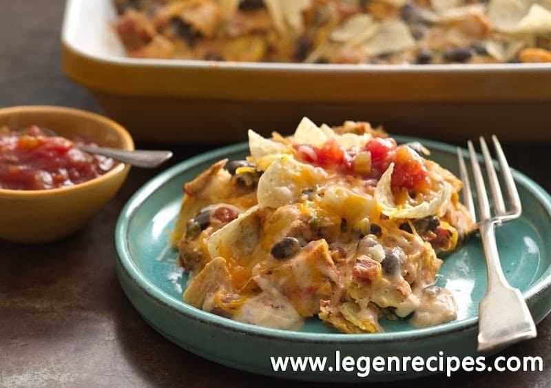 Gluten-Free Cheesy Chicken Enchilada Casserole