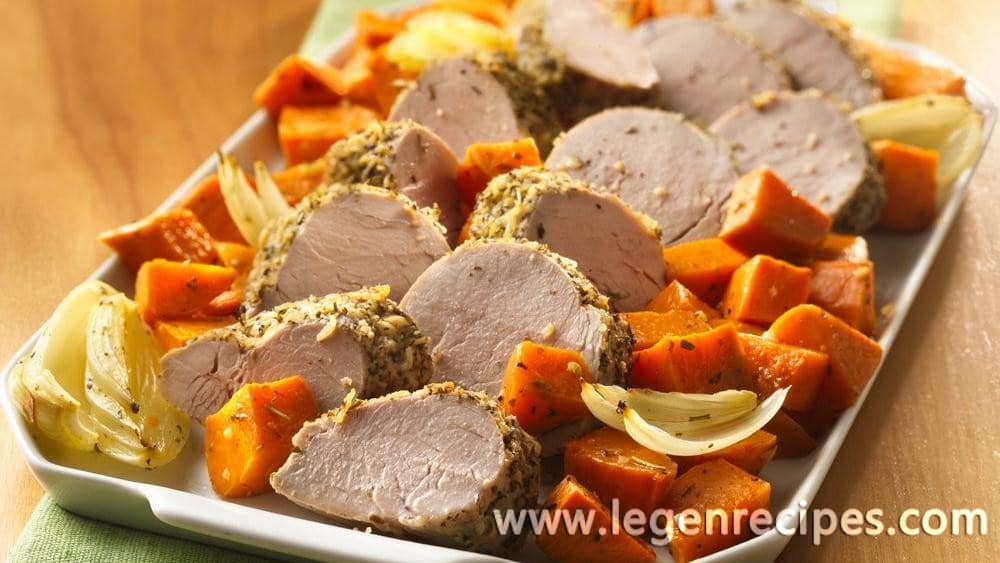 Italian Pork Tenderloin with Roasted Sweet Potatoes - Legendary ...