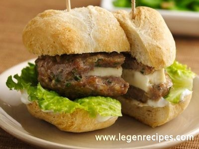 Mini Greek Turkey Burgers with Cucumber Sauce