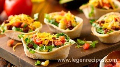 Mini Taco Salad Boats