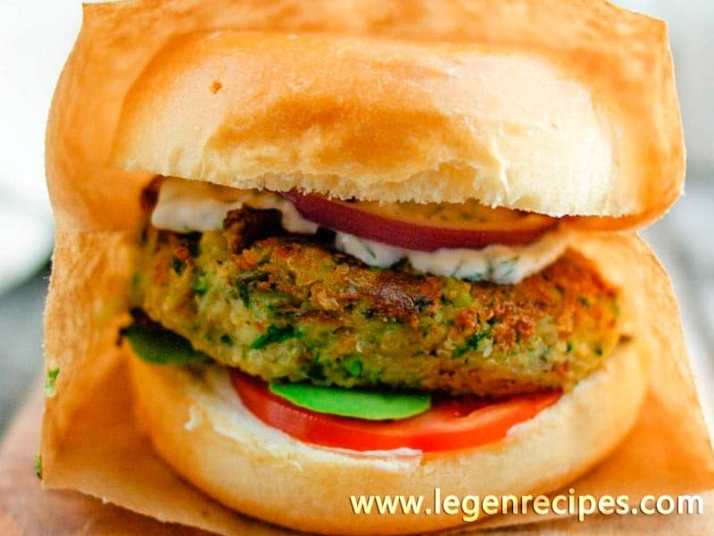 Quinoa & Zucchini Veggie Burgers