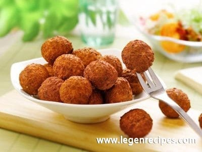 Recipe of meat balls from minced meat