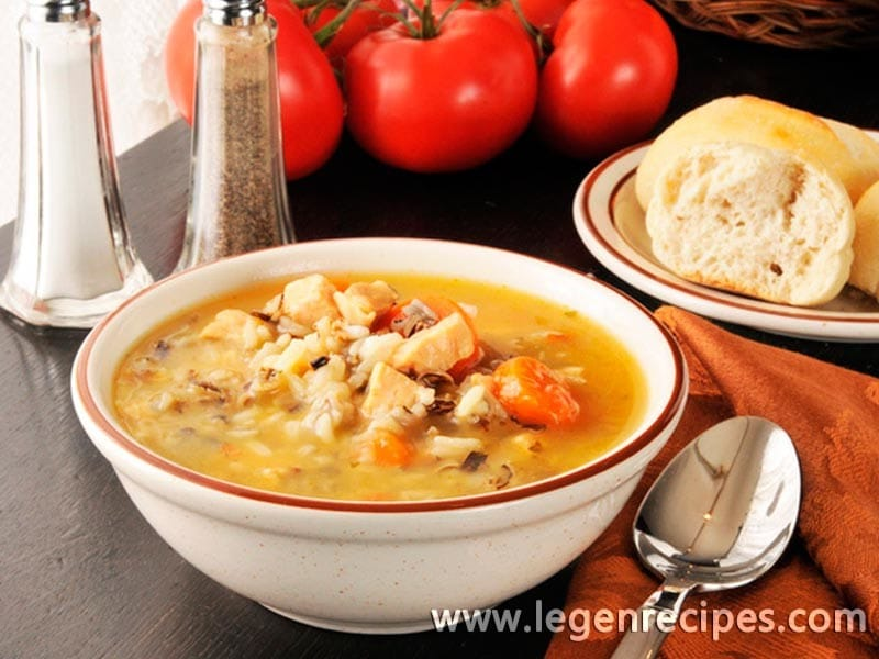 Rice soup: recipe diet first course