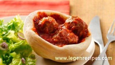 Slow-Cooker Meatballs in Mini Bread Bowls