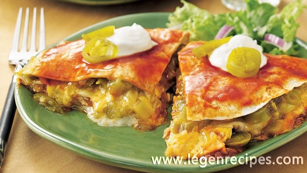 Stove-Top Chicken Enchilada Lasagna - Legendary Recipes