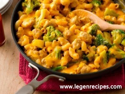 Turkey and Broccoli Cheeseburger Macaroni