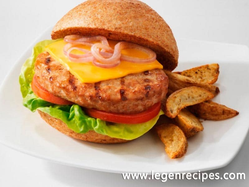 English cheddar turkey burger