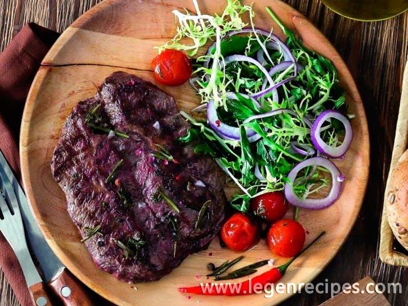 Steak from pork shoulder