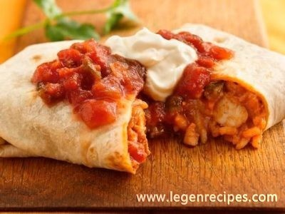 Thai Chicken Burritos