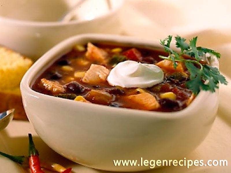 Turkey salsa soup
