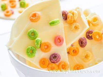 White Chocolate and Cheerios™ Bark
