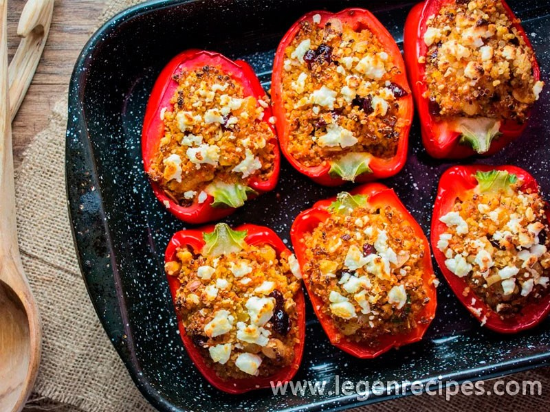 Moroccan Quinoa Stuffed Peppers