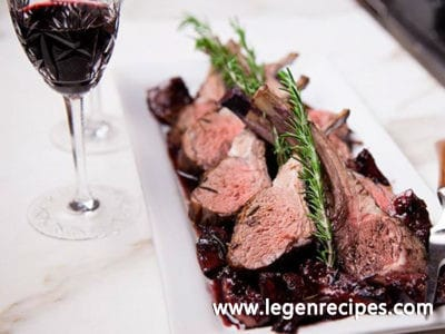 Herb Lamb in Fig Port Wine Sauce