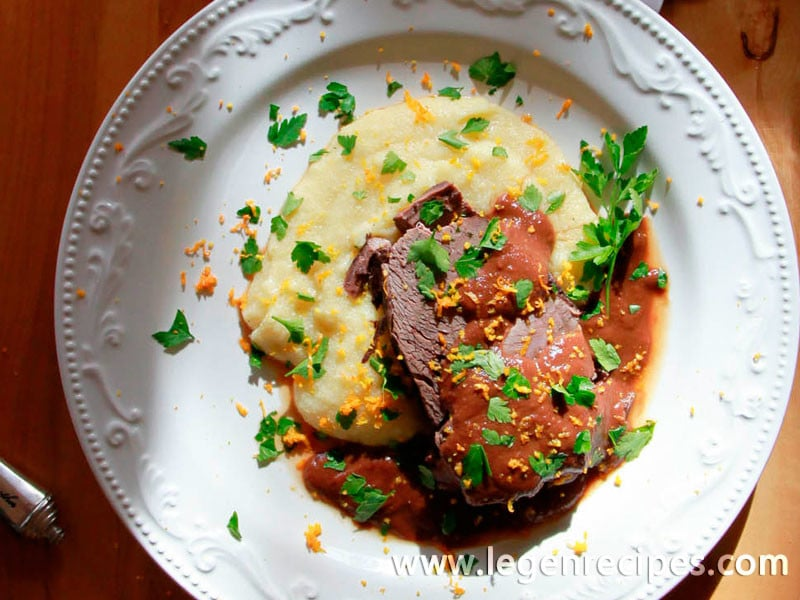 Wine Braised Beef Shoulder with Root Vegetables
