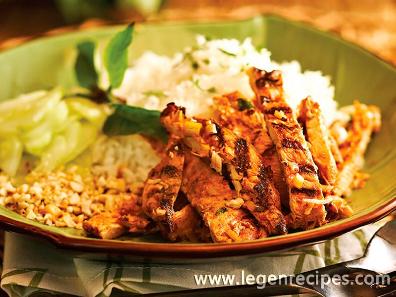 Vietnamese Lemongrass And Chili Grilled Chicken