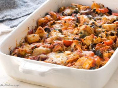 Chicken Casserole with Roasted Veggies