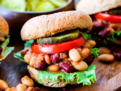 Vegan Three Bean Sloppy Joe Sliders